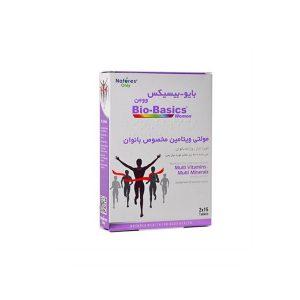 قرص مولتی ویتامین بایوبیسیکس نیچرز اونلی مخصوص بانوان 30 عدد