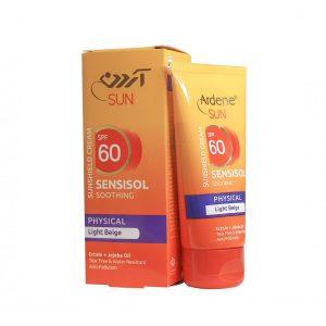 کرم ضد آفتاب رنگی SPF60 فاقد جاذب های شیمیایی آردن مناسب پوست های خشک و حساس 50 گرم