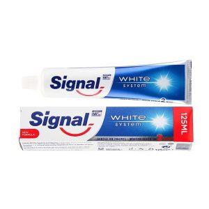 خمیر دندان سفید کننده سیگنال مدل Signal White System حجم ۱۲۵ میلی لیتر